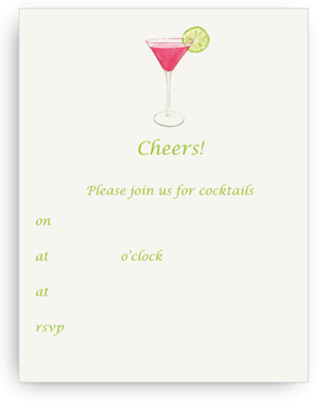 Pink Cosmo - Fill-in Invitations