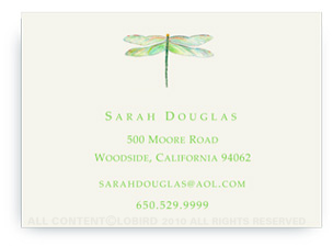 Dragonfly - Green - Calling Cards