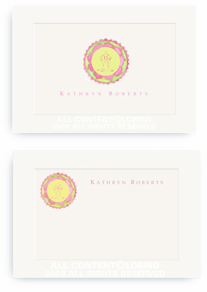 Yoga Lotus Button - Enclosure Cards