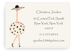 Ostrich - Coco - Calling Cards