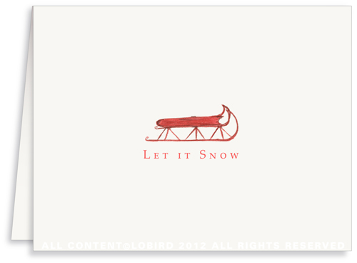 Red Sled - Holiday Greeting Cards