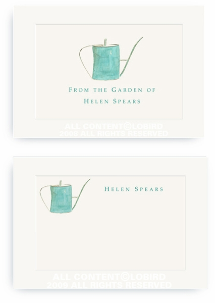 Turquoise Watering Can - Enclosure Cards