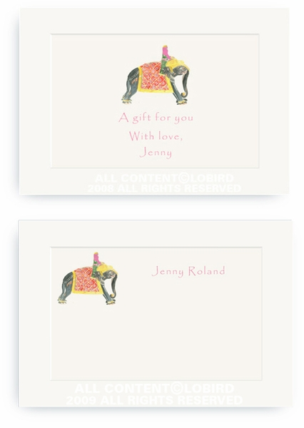 Princess Riding Elephant - Enclosure Cards