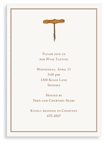 Corkscrew Invitation