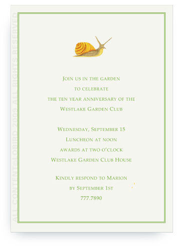Garden Snail - Invitations