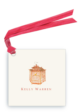 Pagoda Red Bird Cage - Gift Tags
