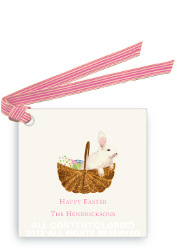 Bunny in Easter Basket - Gift Tags