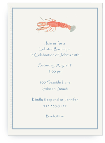 Lobster - Invitations