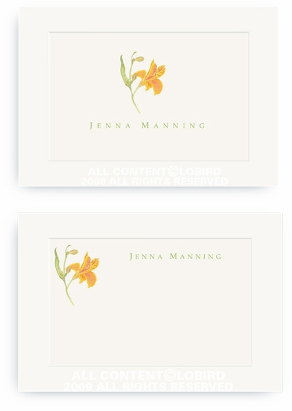 Peruvian Lily - Enclosure Cards