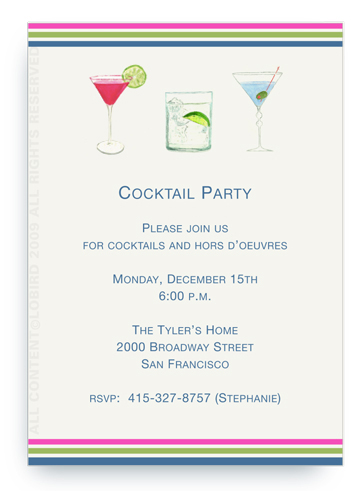 Mixed Cocktails - Invitations