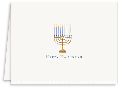 Menorah - Greeting Card