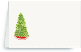 Christmas Tree - Place cards