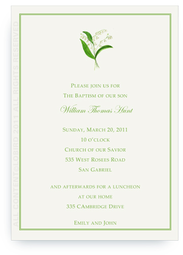 Lily of the Valley - Invitations