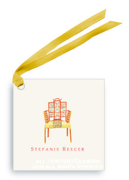Chinese Chippendale Chair - Gift Tags