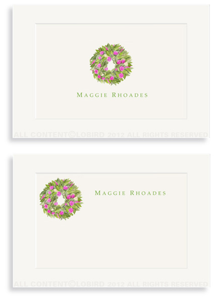 Spring Wreath - Enclosure Cards