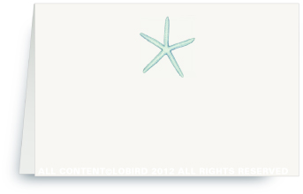 Starfish- Aqua - Place Cards