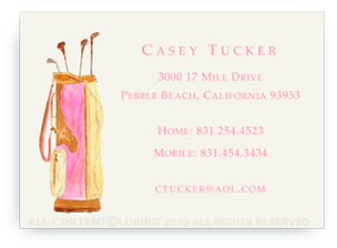 Vintage Pink Nantucket Golf Bag - Calling Cards