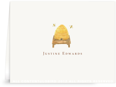 Bee Hive - Folded Note Cards