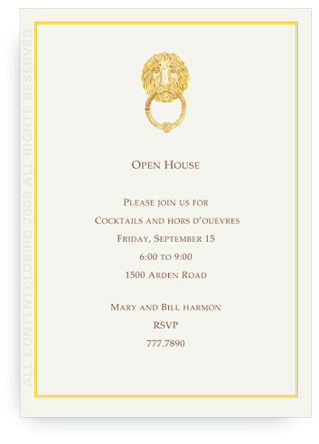 Parisian Lion Knocker - Invitations