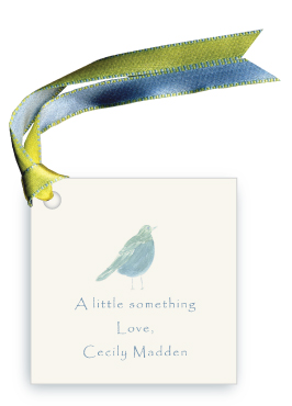 Blue Song Bird - Gift Tags