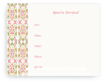 Tapestry - Mediterranean - Fill-in Invitations