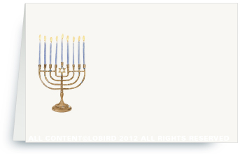 Menorah - Place Cards