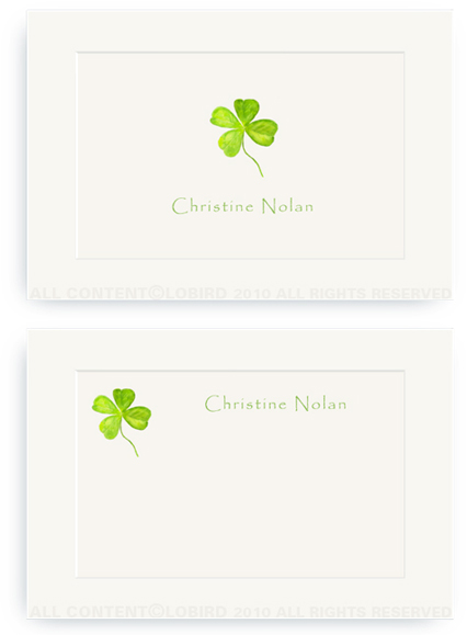 Four Leaf Clover - Enclosure Cards
