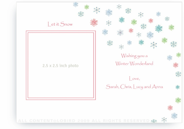 Snowflakes - Photo Greeting Cards