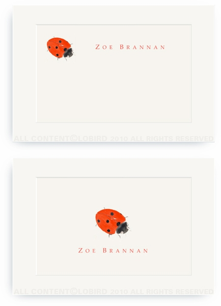 Lady Bug - Enclosure Cards