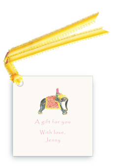 Princess Riding Elephant - Gift Tags