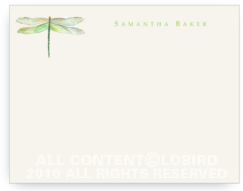 Dragonfly - Flat Note cards
