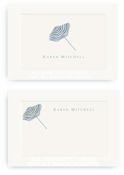 Beach Umbrella - Enclosure Cards