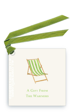 Beach Chair - Green-Gift Tags