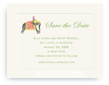 Princess Riding Elephant - Save the Date Cards
