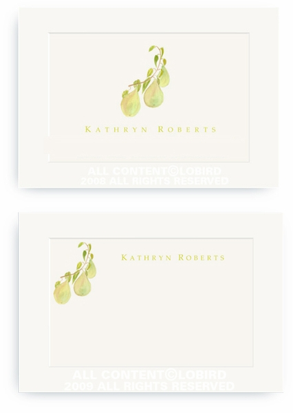 Pear Branch - Enclosure Cards