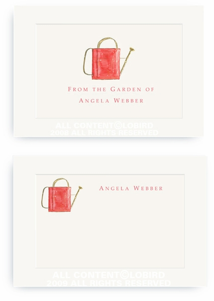 Red Watering Can - Enclosure Cards