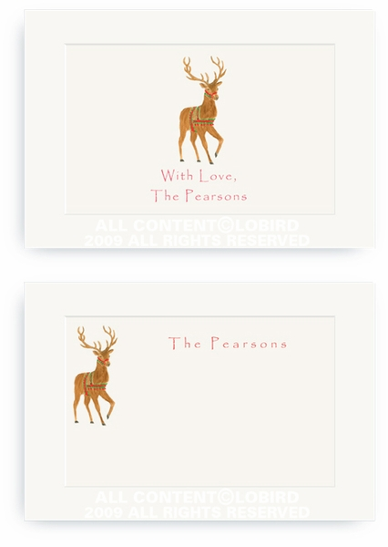 Holiday Reindeer - Enclosure Cards