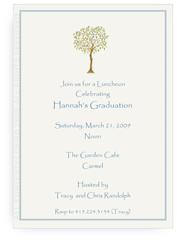 Italian Blue Fruit Tree - Invitations