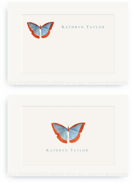 Butterfly - Blue/Red - Enclosure Cards