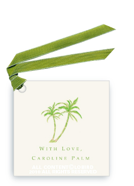 Twin Green Palms - Gift Tags