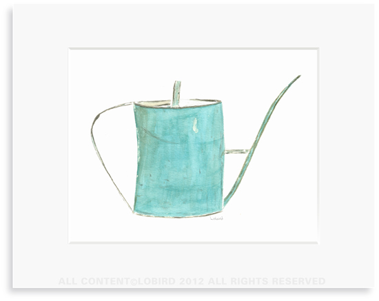 Turquoise Watering Can - Print