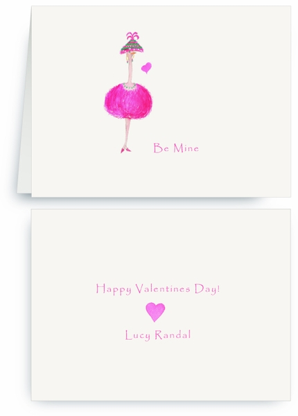 Pink Party Ostrich - Valentines Card