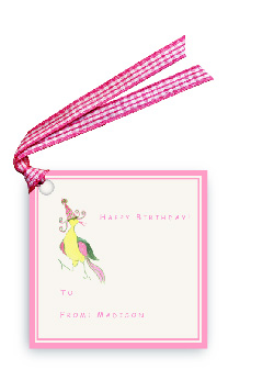 Classic Lobird with Party Hat - Gift Tags
