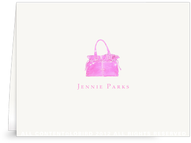 Pink Handbag - Folded Note Cards