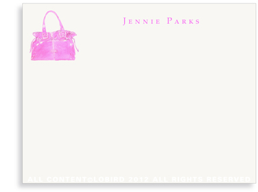 Pink Bag - Flat Note cards