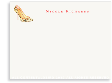 Leopard Pumps - Flat Note cards