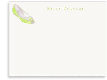 Lime Flat - Flat Note cards