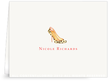 Leopard Pump -Folded Note Cards