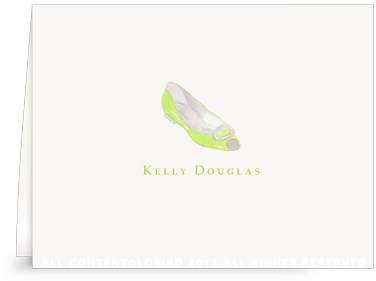 Lime Flat - Folded Note Cards
