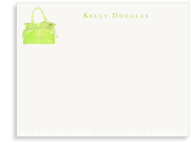 Lime Handbag - Flat Note cards
